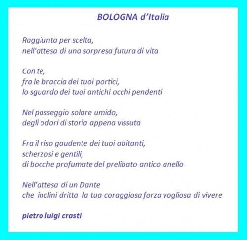 poesia crasti, poesia BOLOGNA D ITALIA, concorso poesie bologna, I concorso zucchi di bologna,bologna, cultura bologna, poesia bologna